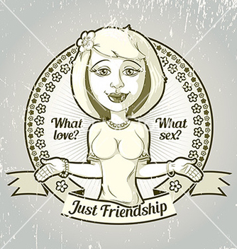 Free housewife friendship emblem vector - Free vector #235061
