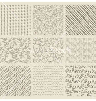 Free abstract hand drawn seamless background patterns vector - Free vector #235071