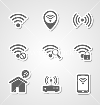 Free wireless local network internet access point icons vector - Free vector #235291