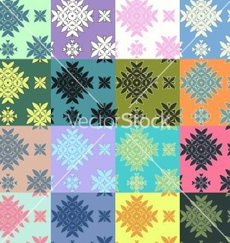 Free colorful pattern set vector - Free vector #235401