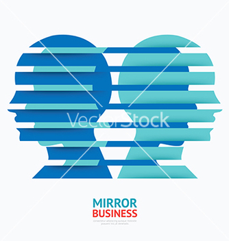 Free business design mirror concept graphic vector - Kostenloses vector #235471
