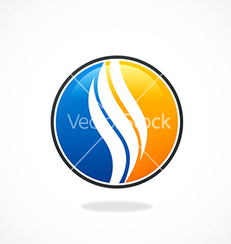 Free round swirl abstract icon logo vector - Kostenloses vector #235481