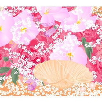 Free flowers and seashell roses and orchids celebration vector - vector gratuit #235531