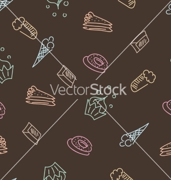 Free brown pattern with sweets vector - Free vector #235721