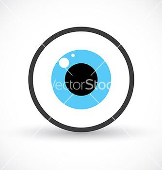 Free eye symbol icon vector - Kostenloses vector #235821