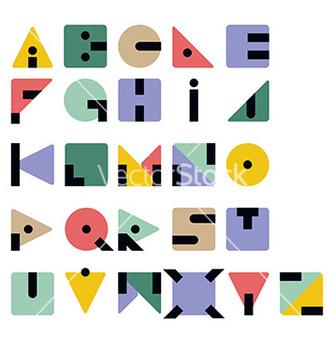 Free geometric retro typeface vector - Kostenloses vector #236071