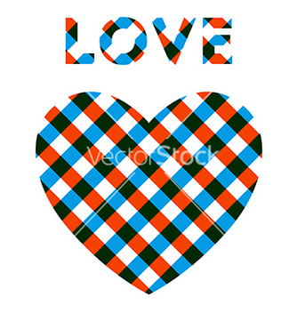 Free heart with checker pattern vector - Free vector #236201
