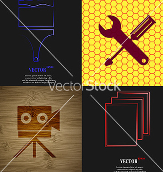 Free set of abstract backgrounds with different web vector - Free vector #236311