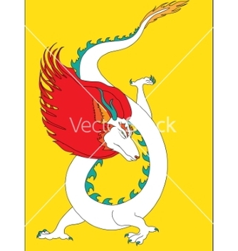 Free white oriental dragon vector - Free vector #236321