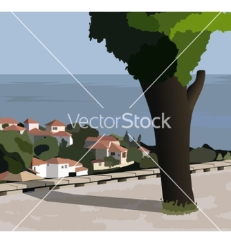 Free town of balchik bulgaria vector - бесплатный vector #236341