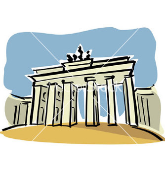Free berlin brandenburg gate vector - Free vector #236551