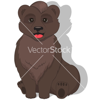 Free sitting bear on white background vector - vector gratuit(e) #236651