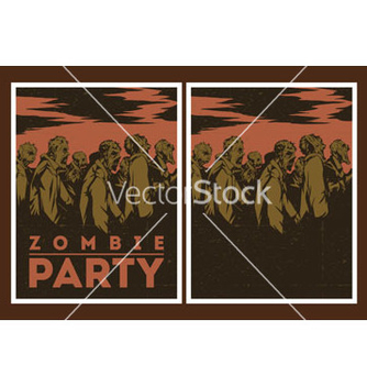 Free zombie party invitation vector - vector gratuit #236681