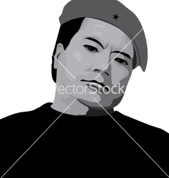 Free man in a beret vector - Free vector #236861