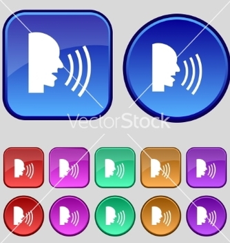 Free talking flat modern web icon set colour button vector - vector gratuit #236881