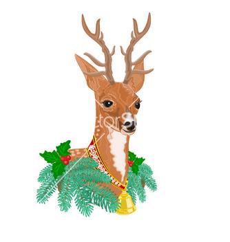 Free christmas reindeer vector - vector gratuit #236991