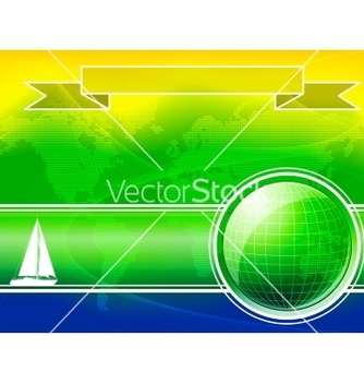Free summer color background with yacht vector - Free vector #237141