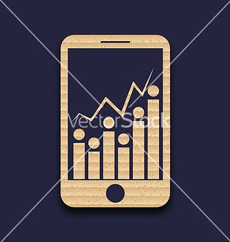 Free paper mobile phone with abstract infographic chart vector - Free vector #237171