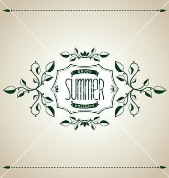 Free summer vintage design vector - Kostenloses vector #237851