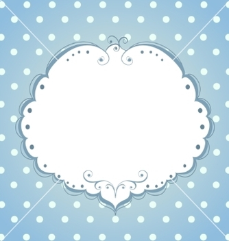 Free card with frame and polka dot background vector - Kostenloses vector #237861