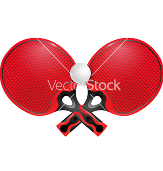 Free two professional racket for table tennis vector - Free vector #237881