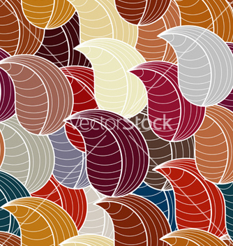 Free seamless pattern with stylized leaves vector - Kostenloses vector #237891