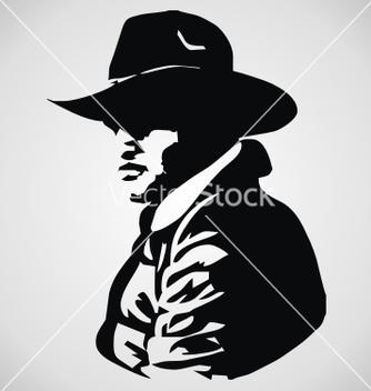 Free cowboy stencil vector - Kostenloses vector #238031