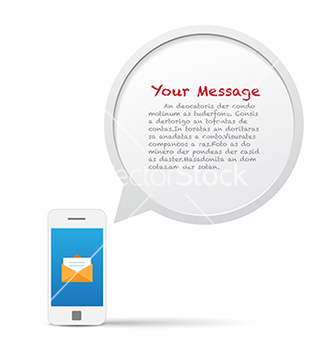 Free smartphone and bubble talk message vector - Kostenloses vector #238041