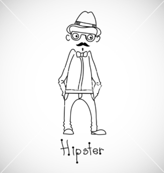 Free hipster character design vector - Kostenloses vector #238061