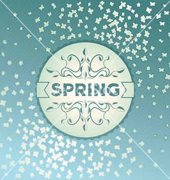 Free spring label design with flowers vector - Free vector #238131