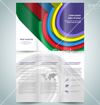 Free dimensional colored geometric 3d line brochure vector - Free vector #238311