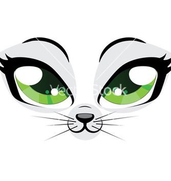 Free kitten face vector - бесплатный vector #238361