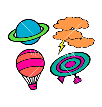 Free cute sky object pack vector - vector gratuit #238521