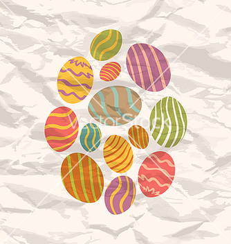 Free set easter eggs vintage celebration background vector - Free vector #238531