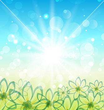 Free spring nature background with flowers vector - Free vector #238541