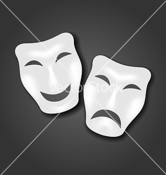 Free comedy and tragedy masks for carnival or theatre vector - vector gratuit #238631