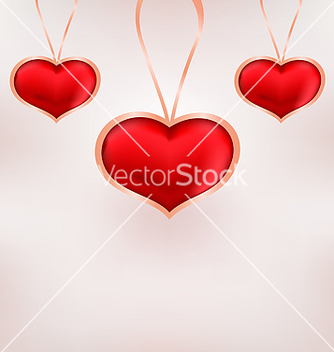 Free cute background for valentine day with red hearts vector - Free vector #238681
