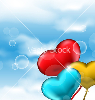 Free collection glossy hearts balloons for valentine vector - бесплатный vector #238741