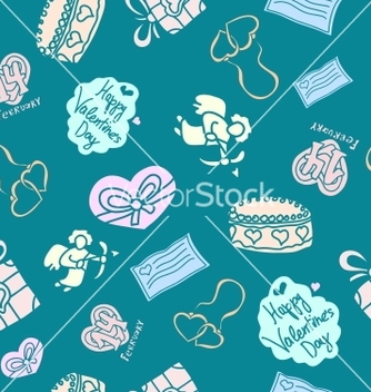 Free seamless texture for st valentines day vector - Free vector #238841