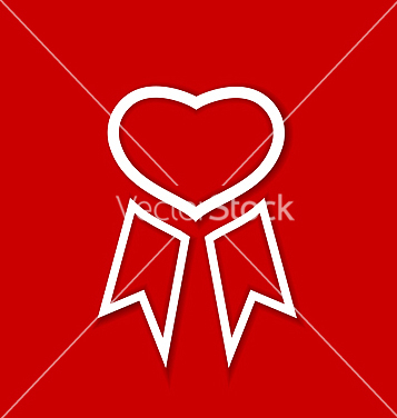 Free red award ribbon for valentines day vector - Kostenloses vector #238951