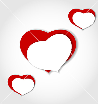 Free hearts from paper valentines day car vector - Free vector #238961