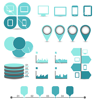 Free infographic design elements ideal to display vector - Kostenloses vector #239071