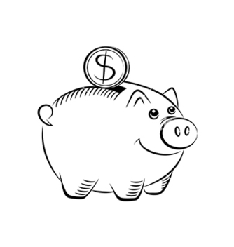 Free piggy bank icon vector - vector gratuit #239201