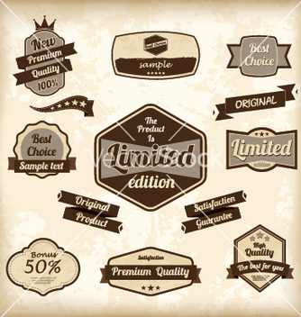 Free retro design label set vector - Kostenloses vector #239481