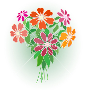 Free bouquet of flowers vector - Free vector #239491
