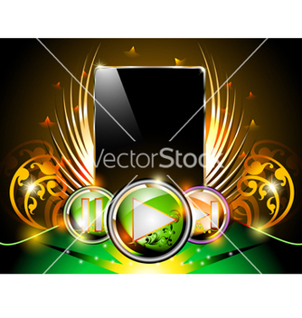 Free smart phone music background vector - Free vector #239611