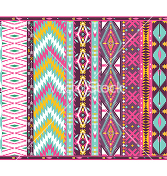 Free seamless colorful aztec geometric pattern vector - Free vector #239791