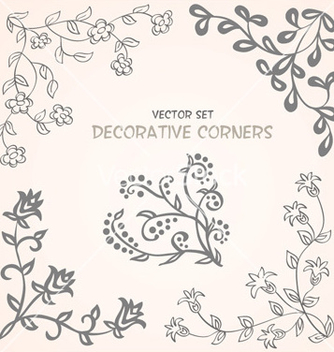 Free decorative floral corners set vector - Free vector #239881