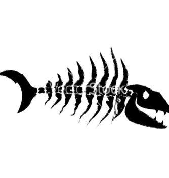 Free fish bones vector - бесплатный vector #240001