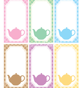Free tea label vector - vector gratuit #240071